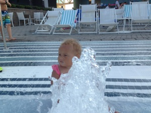 Because she loves the pool.